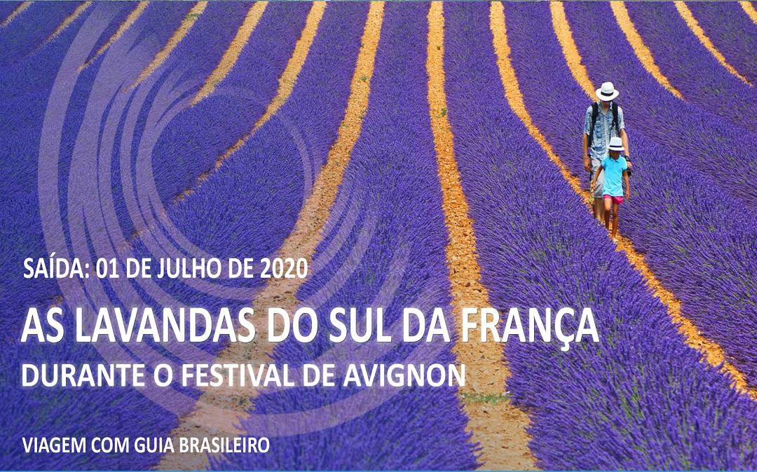 AS LAVANDAS DO SUL DA FRANÇA DURANTE O FESTIVAL DE AVIGNON