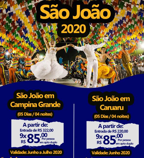 PACOTE DE SÃO JOÃO 2020